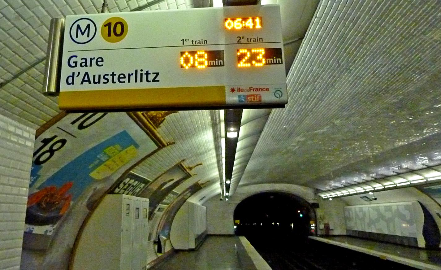 метро парижа схема станция аустерлиц